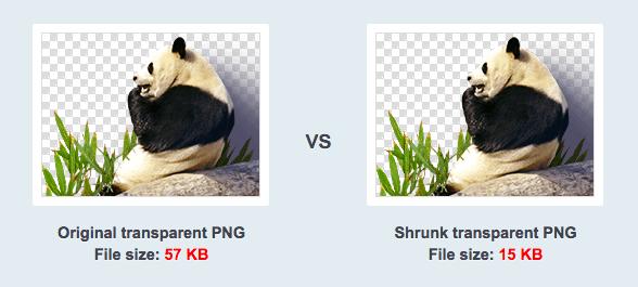 TinyPNG resultaat vergelijken