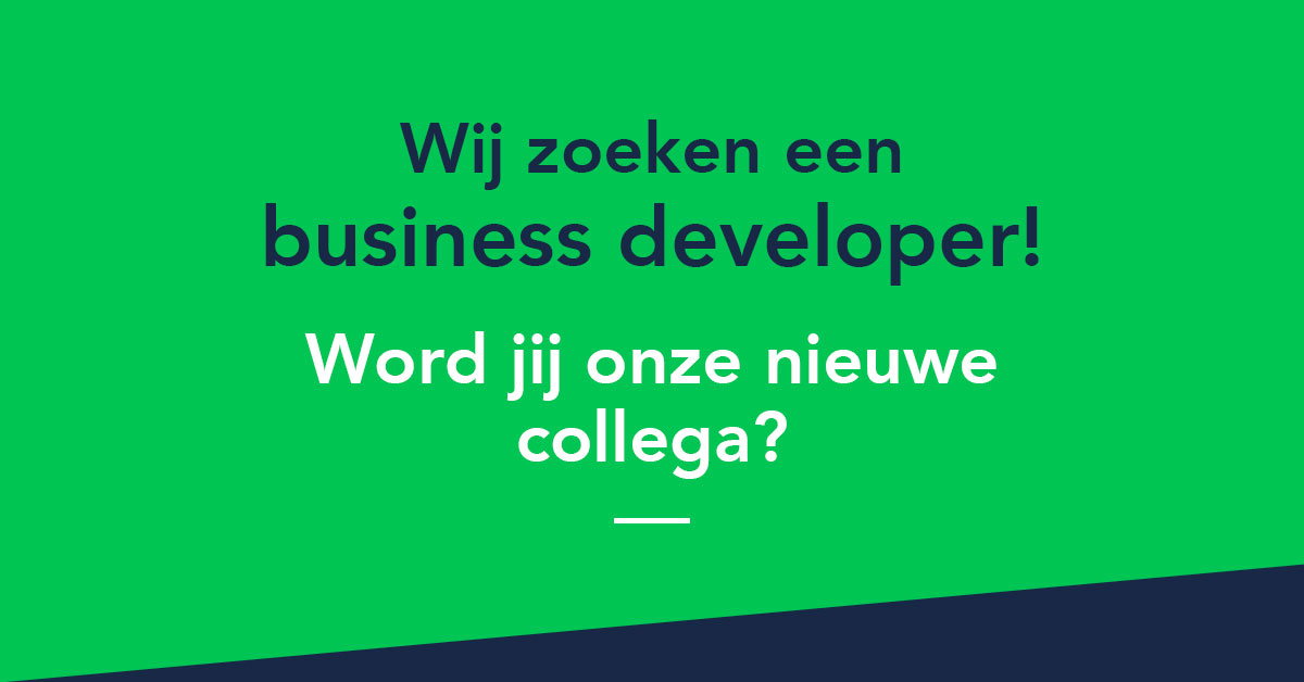 Business Developer Gezocht
